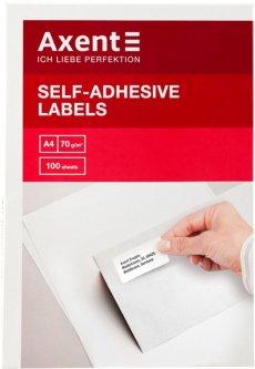 Набор этикеток самоклеящихся Axent 100 листов А4 70х25.4 мм Белые (2467-А)
