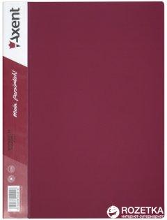 Папка пластиковая Axent А4 40 файлов Бордовая (1040-04-А)