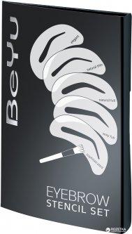 Набор BeYu 5 трафаретов с кисточкой для бровей 20 г (4033651012616)