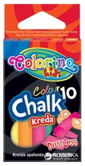 Мелки цветные беспыльные Colorino 5 цветов 10 шт (33152PTR)