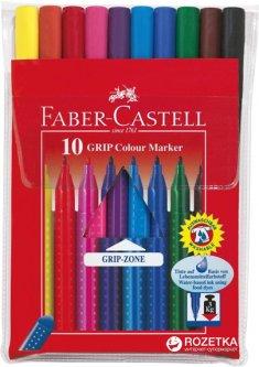 Набор фломастеров Faber-Castell Grip 10 цветов (4005401553106)