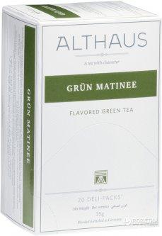Чай зелёный с добавками пакетированный Althaus Grün Matinee 20 х 1.75 г (4260312440994)