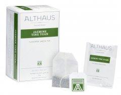 Чай зелёный с добавками пакетированный Althaus Jasmine Ting Yuan 20 х 1.75 г (4001258002675_4260312440987)