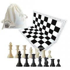 Набор: Шахматы+Доска пластиковая+Мешок для хранения Schach Queen (20000000012179)