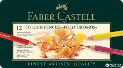 Набор цветных карандашей Faber-Castell Polychromos 12 шт (110012)