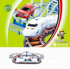 Железная дорога Lixin с поездом и машинкой 90х58 см (9916)