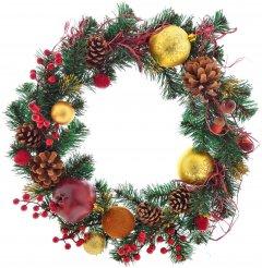 Венок Новогодько (YES! Fun) d-35 см Рождественский с украшением Щедрость Плетенный (4820079035873)