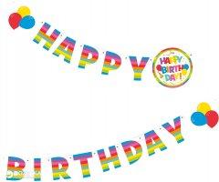 Гирлянда-надпись Susy Card Happy Birthday 1 шт 2 м Разноцветная (40012155)