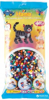Набор цветных бусин Hama Midi 5+ 22 цвета 6000 шт (205-67)
