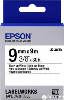 Картридж с лентой Epson LabelWorks LK3WBN 9 мм / 9 м Black/White (C53S653003)
