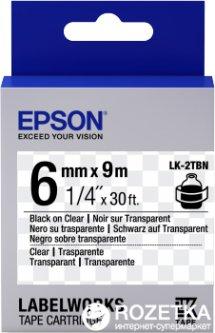 Картридж с лентой Epson LabelWorks LK2TBN 6 мм 9 м Black/Clear (C53S652004)