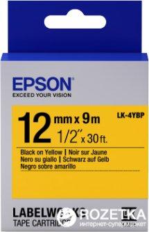 Картридж с лентой Epson LabelWorks LK4YBP Pastel 12 мм 9 м Black/Yellow (C53S654008)