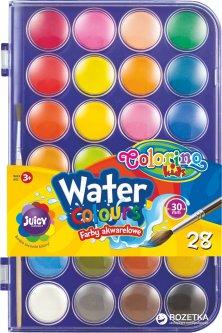 Краски акварельные Colorino большие таблетки 28 цветов (67317PTR)