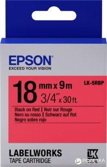 Картридж с лентой Epson LabelWorks LK5RBP 18 мм 9 м Black/Red (C53S655002)