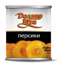 Персики половинками в сиропе Дольче Вита 850 мл (4820072980095)