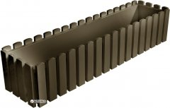 Вазон Plastkon Fency прямоугольный 74.5х18.5х16.9 см Серо-коричневый (8595096951777)