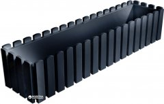 Вазон Plastkon Fency прямоугольный 74.5х18.5х16.9 см Антрацитовый (8595096951722)