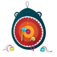 Развивающая игра Battat Голодная акула 1 мишень 4 мячика-рыбки (BX1638Z) (6900006519060)