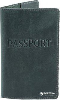 Обложка для паспорта DNK Leather DNK-Pasport-Hcol.C Темно-зеленая (2000000312255)
