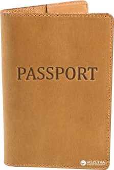 Обложка для паспорта DNK Leather DNK-Pasport-Hcol.E Светло-коричневая (2000000312187)