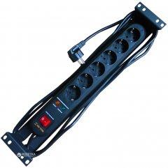 """Блок розеток Conteg 19"""" 2U на 6 подключений Schuko для серверного шкафа (DP-RP-06-SCHUSP)"""