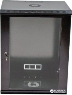 Шкаф монтажный настенный CMS MGSWL 15U Черный (UA-MGSWL155B)
