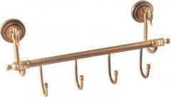 Планка с 4-мя крючками KUGU Versace Antique 210-4A