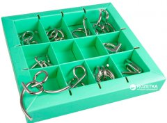 Набор головоломок 10 Metall Puzzles Зеленый (5425004733573)