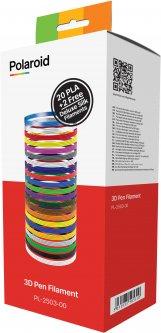 Набор нити Polaroid 1.75 мм PLA для ручки 3D 22 цвета (PL-2503-00)