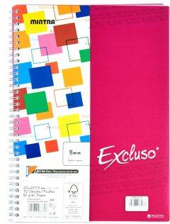 Блокнот Mintra EXCLUSO A4 в клетку 72 листа Красный (983321)