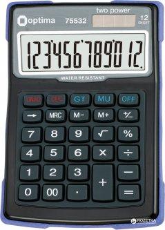 Калькулятор электронный Optima 12-разрядный (O75532)