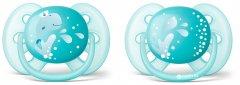 Пустышка Philips AVENT Ultra Soft для мальчиков 6-18 мес 2 шт (SCF226/22)