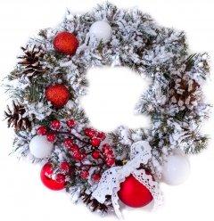 Венок Новогодько (YES! Fun) Ностальгия 15 см Бело-зеленый (4820079037730)