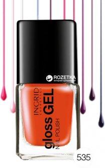 Лак для ногтей Ingrid Cosmetics Gloss Gel №535 Коралловый 7 мл (5901468921270)