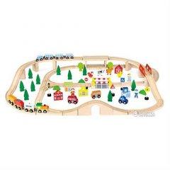 Деревянная железная дорога Viga Toys 90 элементов (50998)