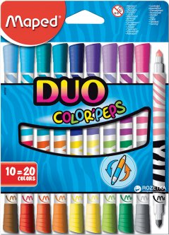 Фломастеры Maped Color Peps Duo 20 цветов 10 шт (MP.847010)