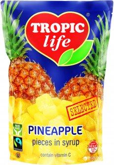 Ананас кусочками в сиропе Tropic Life 430 г (5060235651229)