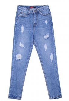 Relucky love jeans 811 27 Голубой
