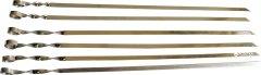Набор шампуров плоских Домовик 58 см 6 шт (4822009817825)