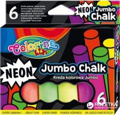 Мелки цветные Colorino Jumbo Neon 6 цветов 6 шт (92081PTR)