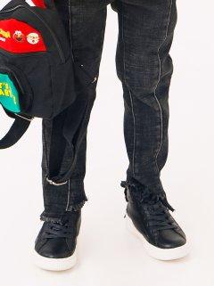 Кеди з брендового нашивкою ззаду JO JO чорний розмір 29 (18431529)
