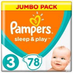 Подгузники Pampers Sleep & Play Размер 3 (Midi) 6-10 кг, 78шт (8001090669094)