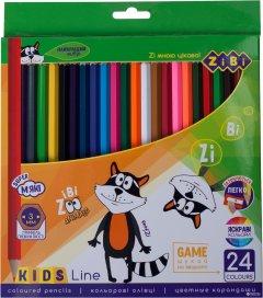 Карандаши цветные ZiBi Kids Line 24 цвета (ZB.2416)