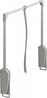 Гардеробный лифт Hafele Innominato 8 кг 620-950 мм Серый (805.29.901)