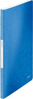 Папка пластиковая Leitz WOW А4 20 файлов Голубая (46310036)