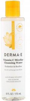 Мицеллярная очищающая вода Derma E с витамином С пробиотиками и чаем ройбуш 175 мл (030985003550)