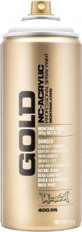 Акриловая краска-спрей Montana Gold S9100 Белый шок 400 мл (White) (4048500285790)