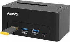 """Док-станция Maiwo для HDD 2.5""""/3.5"""" SATA/SSD + 3хUSB 3.0 (K308H)"""
