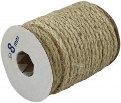 Веревка сизалевая Радосвіт 8 мм х 25 м Бело-желто-серый (4820172930181)