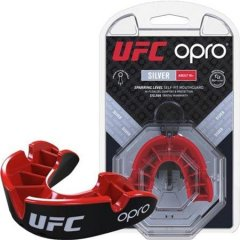 Капа OPRO Silver UFC Hologram Black/Red (002259002)